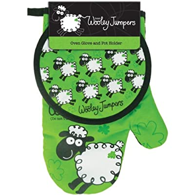 Dublin Gift Wooley Jumper, Oven Glove and Pot Holder