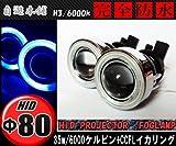 CCFLイカリング付きプロジェクターフォグランプ/ヘッドライト加工等に35w/6000k/H3ブルー