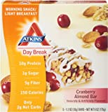 Atkins Day Break Cranberry Almond Morning Snack Bar, 5 Count Bars