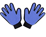 Pet Grooming Glove Brush Deshedding Glove (Pet Massage Tool) for Dogs, Cats, Horses, Rabbits (1 Pair: Left Hand and Right Hand)