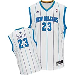 New Orleans Hornets Anthony Davis Youth Size Home Jersey White #23 NBA Basketball by adidas