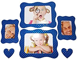 Magnetic Personalities 4x6 Magnetic Photo Frame Sets ~ 48 COLORS TO CHOOSE FROM! (Royal Blue ~ 100% Sparkle)