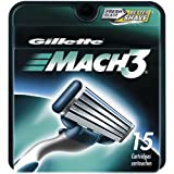 Gillette MACH3 Cartridges, 15-Count Blister Sustainable Pack