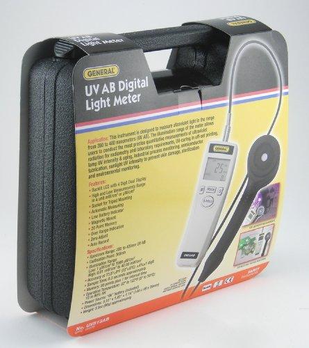 General Tools & Instruments UV513AB Digital UVC Meter, 280-400 nm