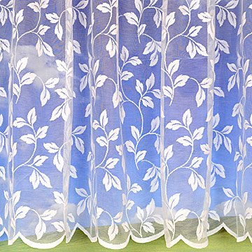 Leaf White Net Curtain 36