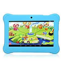 iRULU BabyPad Y1 7 Inch Kids Tablet, Android 4.4 Kitkat, Quad Core, 1GB RAM, GMS Certified by Google, 1024*600 Resolution, 8GB Nand Flash (Blue)