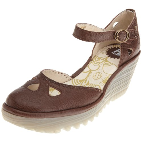 Fly London Women's Yuna Brown Wedge Heel P500016052 5 UK