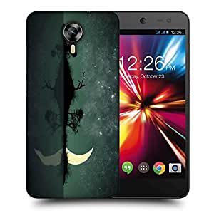 Snoogg Half Moon Printed Protective Phone Back Case Cover For Micromax Canvas Nitro 4G