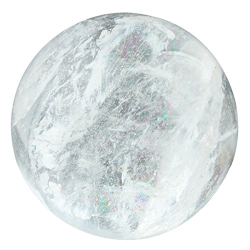 SUNYIK Rock Quartz Sphere Gemstone Ball Crystal Healing Fengshui Sculpture Figurine Decor(40-45mm) (Smooth Gem Rocks compare prices)
