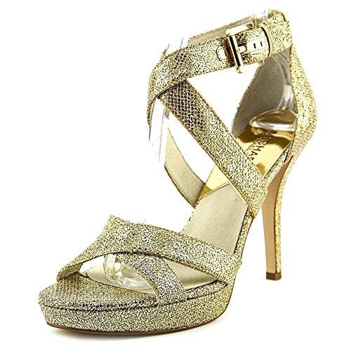 Michael Michael Kors Evie Platform Donna US 9 Oro Tacchi Alti