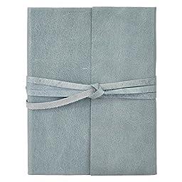 Islander Sky Blue Leather Journal with Wrap 5x7