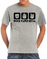 Touchlines Herren  T-Shirt Stein Papier Rock  Heavy Metal