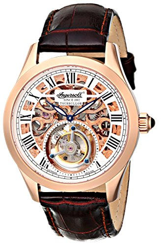 Ingersoll-Mens-IN5102RG-Golden-Spike-Tourbillon-Analog-Display-Mechanical-Hand-Wind-Brown-Watch