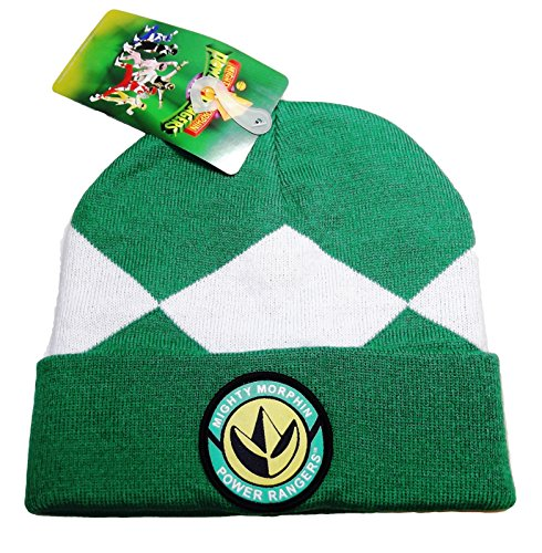 POWER RANGERS Mighty Morphin Green Suit up Knitted Cuffed BEANIE HAT