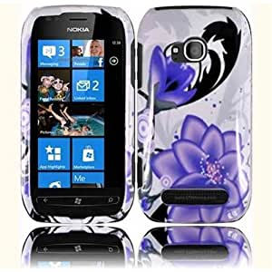 HR Wireless Nokia Lumia 710 Design Protective Cover - Retail Packaging - Violet Lilly