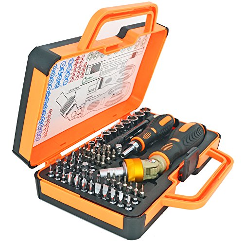 Double Ratcheting Screwdriver Set Ratcheting Socket Hand Tool Set 64 Bits Magnetic