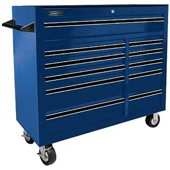Homak BL04011410 41-Inch Pro Series 11 Drawer Rolling Cabinet, Blue