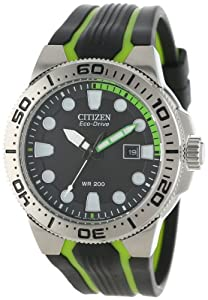"Citizen Men's BN0090-01E ""Scuba Fin"" Eco-Drive Diver's Watch with Two-Tone Band"