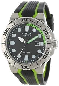 Buy Citizen Mens BN0090-01E Scuba Fin Eco-Drive Scuba Fin Diver's Watch by Citizen