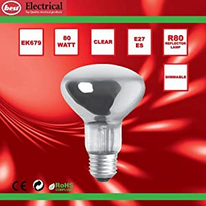 Bulk Hardware BH00567 ES R80 Reflector Lamp, 80 W - Pack of 5 from Bulk Hardware Ltd