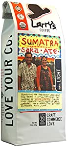 Larry's Beans Fair Trade Organic Coffee, Mountain Sumatra, Whole Bean, 12-Ounce Bags (Pack of 3)