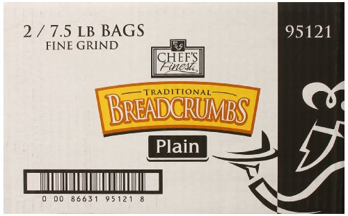 Chef's Finest Bread Crumbs, Fine Grind, Plain, 7.5 Pound (Fine Bread Crumbs compare prices)