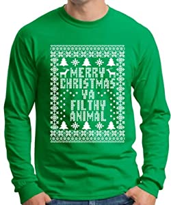 ThisWear Merry Christmas Ya Filthy Animal Long Sleeve T-Shirt
