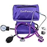 LotFancy Aneroid Sphygmomanometer & Sprague Stethoscope Kit