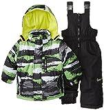 Big Chill Baby-Boys Infant Camo Stripe Snowsuit, Black, 18 Months