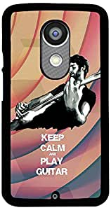 PrintVisa 2D-MMX2-D8039 Quotes Music Guitar Case Cover for Motorola Moto X2 (2nd Gen.)