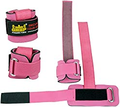 Best Heavy Duty Lifting Straps Neoprene Padded 1 Pair Wrist Wraps amp Rubbery Grip Support Straps am