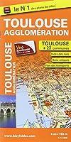 Plan de la ville de Toulouse et de son agglomération - Echelle : 1/15 000, avec index - Localisation des stations VélÔToulouse