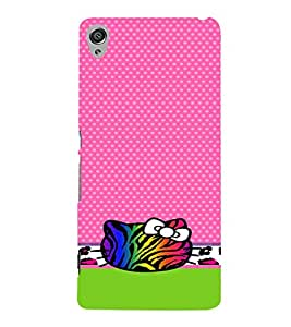 Cat Graphics 3D Hard Polycarbonate Designer Back Case Cover for Sony Xperia XA :: Sony Xperia XA Dual