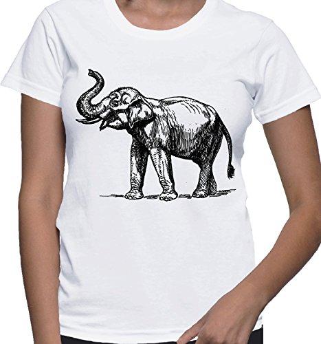 mesdames-t-shirt-avec-elephant-illustartion-imprime-col-ras-du-cou-small-blanc