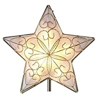 10 Light Indoor UL Star Treetop – Fits Perfectly On Christmas Tree Silver Trimming Pattern