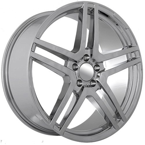 51LGGKtPrfL 20 Inch Mercedes Benz 2011 2012 AMG Wheels Rims Chrome (set of