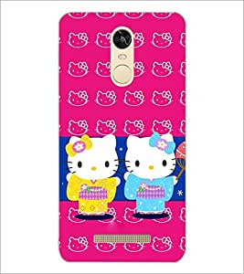 PrintDhaba Kitties D-3862 Back Case Cover for XIAOMI REDMI NOTE 3 PRO (Multi-Coloured)