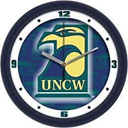 North Carolina (Wilmington) Seahawks Suntime 12&quot; Dimension Glass Crystal Wall Clock
