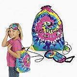 Girls Sleepover Backpack With Eye Mask Tie Dye Fashion