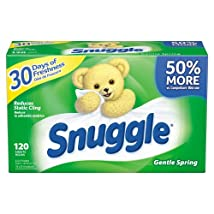Snuggle Fabric Softener Dryer Sheets Gentle Spring 120 Count