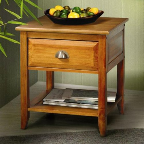 Buy Low Price Mission Style Corner Side End Table With