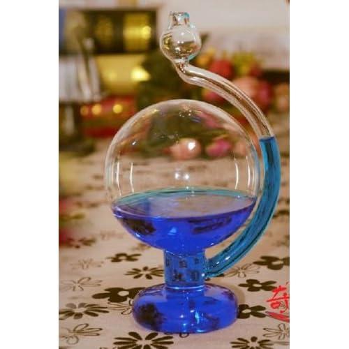 晴雨予報グラス インテリアとしても最適 おもしろグッズ (ブルー)T-B