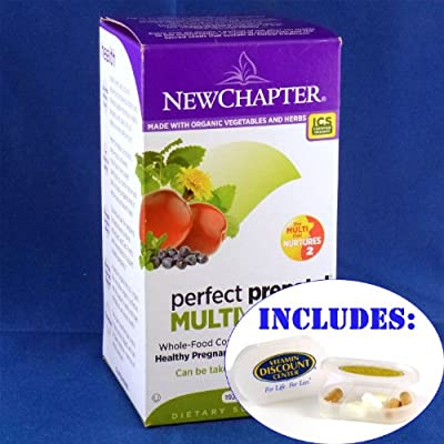 Combo Pack Perfect Prenatal By New Chapter - 270 Tablets with Pill Box
