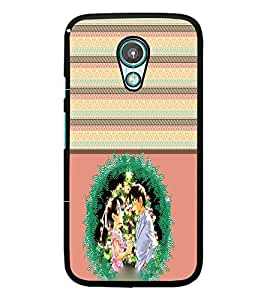 PrintDhaba Couple D-3772 Back Case Cover for MOTOROLA MOTO G2 (Multi-Coloured)
