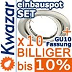 10er SET K-19 Einbaustrahler inkl. GU...