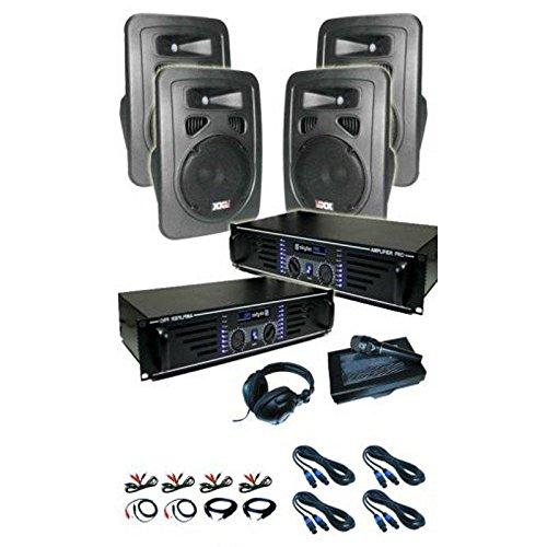"""Set DJ """"Lido"""" 2 x ampli 4 x casse Mic 4800W"""