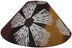 13 Round Brown and White Designer Lamp Shade for Table Lamp or Floor Lamp