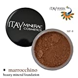 Itay Mineral Foundation Loose Powder 9gr MF-8 - MARROCCHINO + Cala Lily 7pcs Brush Set 70816