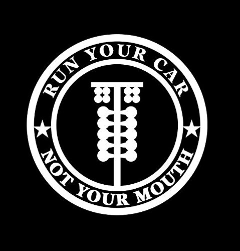 Run Your Car Not Your Mouth JDM Vinyl Decal Sticker|Cars Trucks Vans Walls Laptops|WHITE|5.5 In|KCD618 (Hello Kitty Iphone 6 Car Charger compare prices)