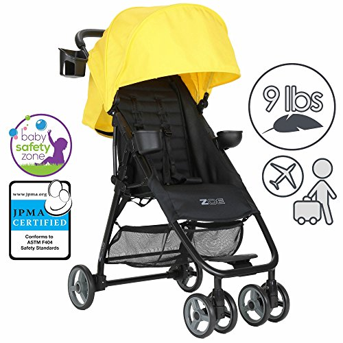 Review Of ZOE XL1 BEST Xtra Lightweight Travel & Everyday Umbrella Stroller System (Yellow)